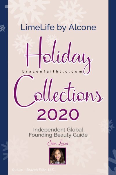 LimeLife by Alcone, Holiday Collections 2020, Independent Founding Global Beauty Guide, Jean Lucas, Brazen Faith, LLC, Christmas shopping online